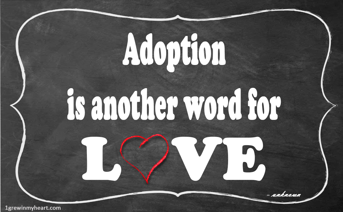 Adoption Quotes Delectable Adoption Quote Meme's  Grew In My Heart  Adoption